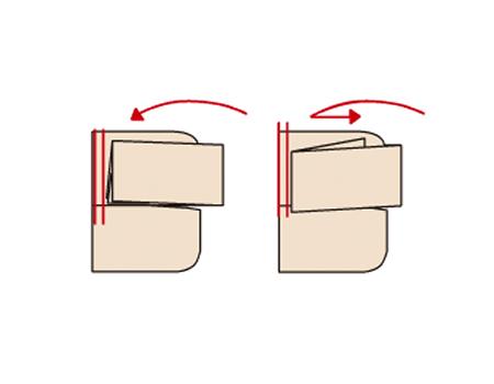 えり山を折り込み、丈を二つまたは三つ折りにする。すそは、肩山から2cmくらい控えて折る。