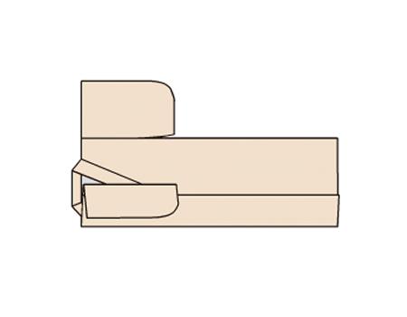下側のそでを外側に半分折り返す。このとき、そで口は手前の身ごろの折り目より2センチほど内側になるように。